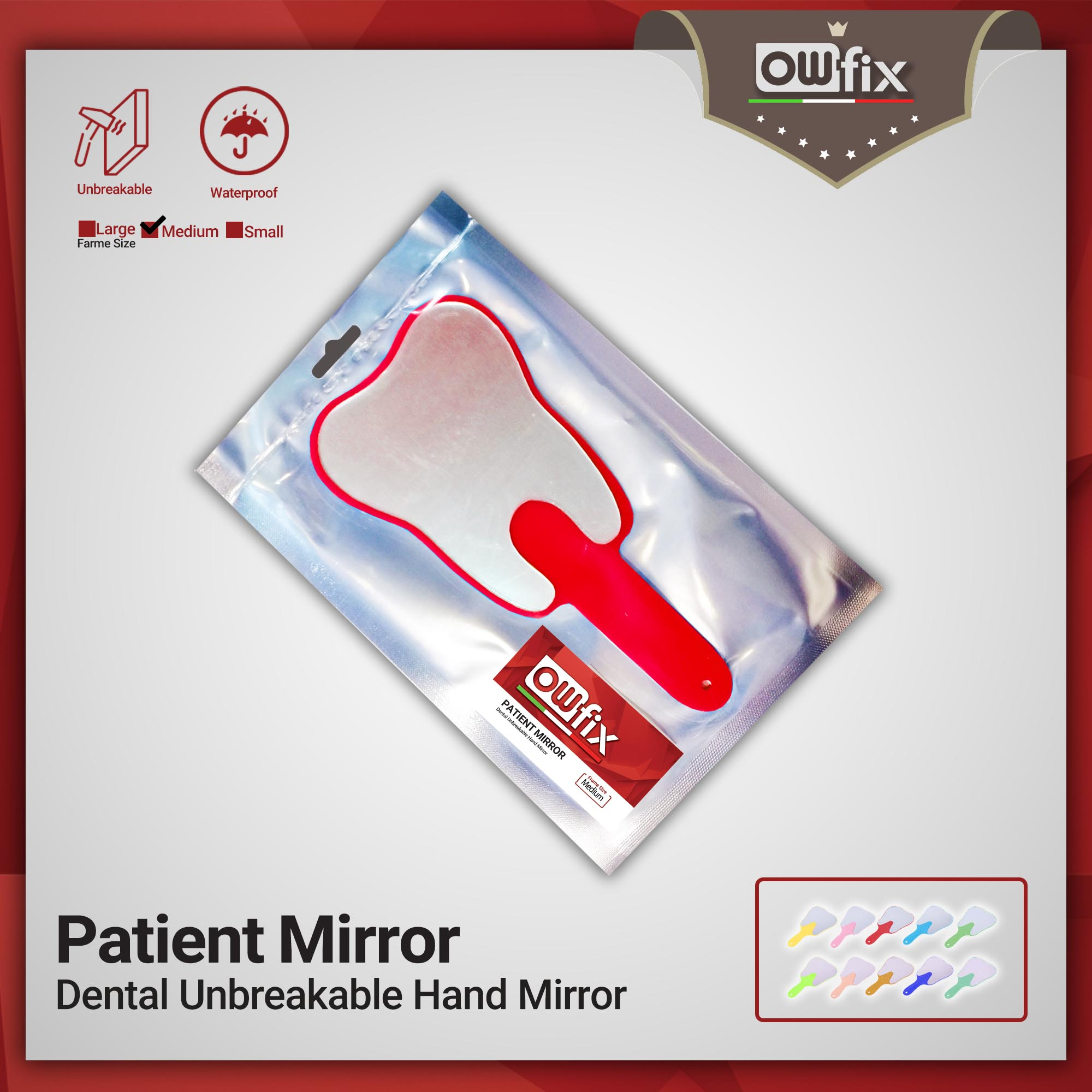 Dental Unbreakable Hand Mirror pationt owfix